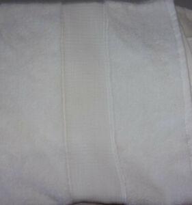 Pottery Barn Hydrocotton Quick Drying Organic Bath Towel -Ivory White- NEW