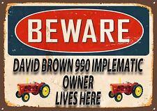 DAVID BROWN 990, TRACTOR,FARMING,COLLECTABLE,VINTAGE STYLE,ENAMEL METAL SIGN,428