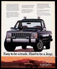 1986 Jeep Comanche Camioneta Negro Camión Foto Vintage Estampado Anuncio