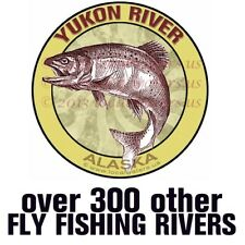 Yukon River Alaska Fishing Sticker Salmon Steelhead decal Guaranteed 3+yrs