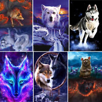 5D Animals Diamond Painting Full Drill Embroidery Crafts Kits Wolf Home Decors