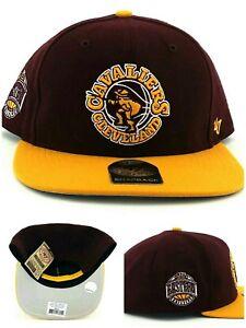 Cleveland Cavaliers New 47 brand Sure Shot Wine Red Gold Era Snapback Hat Cap