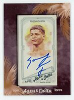 2018 ALLEN & GINTER #MA-SF SONNY FREDRICKSON AUTO FRAMED MINI SP #01/25
