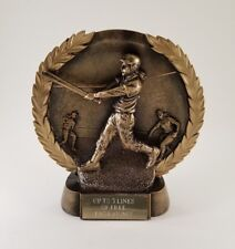 Female Softball Gold Plate Trophy! Free Engraving! Ships In 1 Business Day!