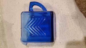 Blue Glass Coffee Tea Creamer Pitcher (T9D)