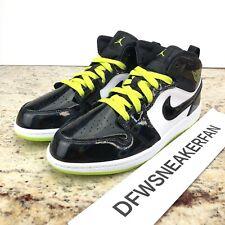 Nike Air Jordan 1 Mid PS Black Cyber White Mystic Green BQ6932-003 SIZE 3Y