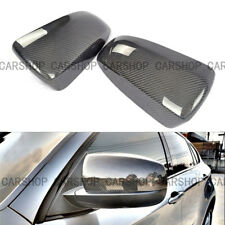 For BMW E70 E71 08-13 3K Real Carbon Fiber Door Side Mirror Cover Caps Add On