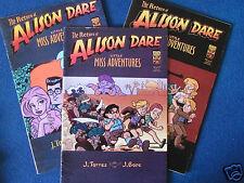 Oni Press Comics-The Return of Alison Dare-Little Miss Adventures- No's 1-3 2001