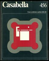 Architettura  Casabella  n. 456 marzo 1980  Direttore Maldonado