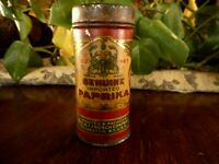 """antique spice tin paprika frenchs red apx 3"""" tall Vintage kitchen"""