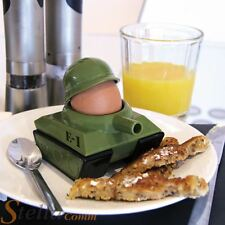 Paladone Egg Splode Army Tank Shaped Soldier Toast Cutter & Egg Cup Kitchen Gift
