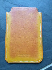 Paul Smith PS Yellow Burnished Leather Phone Case/ Card holder  Brand New