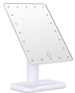 Ovonni L207 20 LEDs Touch Screen Makeup Mirror Adjustable LED Tabletop Lighted