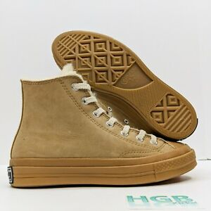 Converse Chuck 70 Men's Boot Shearling Trainers Hiking Gym Iced Coffee 166318C