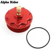 Red Billet Fuel Filter Cap Pressure Port For Ford E / F Series Powerstroke 6.0L