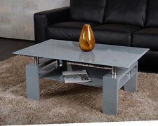 Agionda® Couchtisch Hochglanz grau Diana XLG 110 x 60 cm chrom  NEU+OVP
