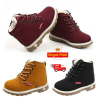 Children Kids Baby Boys Girls Casual Winter Warm Martin Sneaker Boots Shoes 1-6T