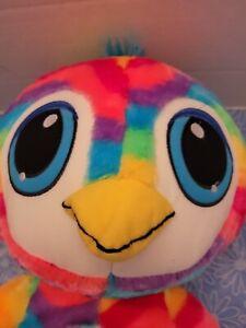 LARGE CLASSIC TOY COMPANY STUFFED PENGUIN OWL BIRD BRIGHT RAINBOW COLORS BIG BLU