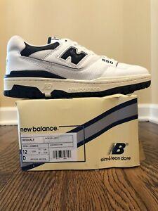New Balance 550 Aime Leon Dore White Navy Size 12 Brand New BB550ALF