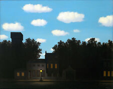 Rene Magritte Empire of light2 giclee 8X12 canvas print Reproduction of painting