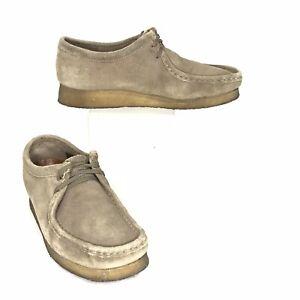 Clarks Men's Originals Wallabee Shoes Moc Toe Derby Suede Beige US Size 8