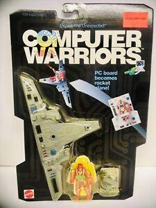 COMPUTER WARRIORS / DEBUGG / PC BOARD TO ROCKET PLANE / 1989 / MATTEL / MOSC