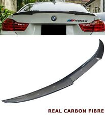 BMW 4 SERIES F33 F83 M4 CONVERTIBLE V STYLE REAR TRUNK BOOT SPOILER CARBON FIBRE