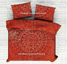 Indian Elephant Mandala Tapestry Queen Size Cotton Bedding Bed sheet Bedspread