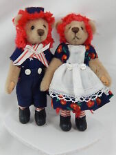 "World of Miniature Bears 3"" Bear Ann & Andy #890-SET Collectible Miniature Bear"