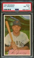 1954 Bowman BB Card #203 Vic Janowicz Pittsburgh Pirates PSA NM-MT 8 !!!