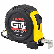 TAJIMA / G-LOCK - 10m / GL25-100BL / TAPE MEASURE RUBBER GRIP / JIS RANK Japan.