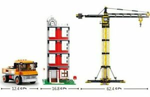 CRANE 1461 PCS Set Building Blocks Bricks Children FUN Educational Kit Yellow