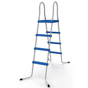 "JLeisure 29R146 48"" 3 Step Platform Outdoor Above Ground Swimming Pool Ladder"