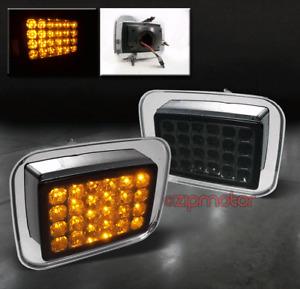 03-09 HUMMER H2 SUT LED FRONT SIDE CORNER SIGNAL LIGHT LAMP SMOKE 04 05 06 07 08