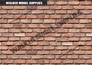 1:6 scale (3xA4) Brick wall - Peel and Apply sticker/ diorama model 14