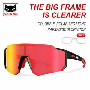 CATEYE Cycling Colorful Polarized Glasses Outdoor Sports Photochromic Sunglasses