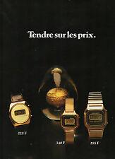 Publicité Advertising 1989  Montre Texas Instruments