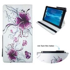 Tablet Schutzhülle für Samsung Galaxy Tab A6 Etui 10.1 Zoll Lila Blumen 360