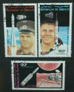 DJIBOUTI 1981 Space Anniversaries & Events: Gagarin. Set of 3 USED/CTO SG805/807