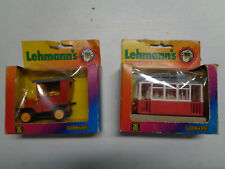 LEHMANN'S WEST GERMANY TOY CAR AND TROLLEY 960 & 971 IN BOX RARE VINTAGE