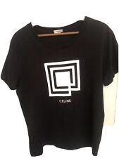 CELINE X HEDI SLIMANE FW19 Labyrinth Mens Black T-shirt L Large £395 worn once