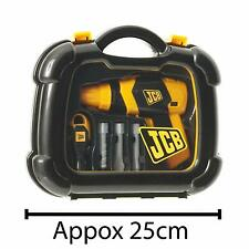 NEW JCB Drill Tool Carry Case & Tools Play Set For Kids Boys & Girls