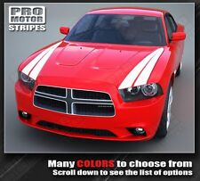 Dodge Charger 2014 Racing Hood Side Stripes 2011 2012 2013 Decals Pro Motor