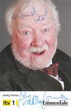 Emmerdale FREDDIE JONES Signed TV Cast Card Sandy Thomas