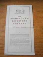 18/08/1945 Theatre Programme: Repertory Birmingham - Man And Superman (4 Pages,
