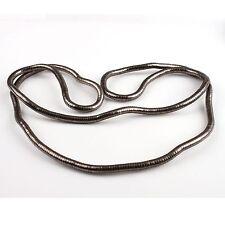 1Pcs Free Ship Gun Black Flexible bendy Snake Necklace 90cm 160020