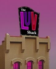 The LUV Shack Animated Billboard Sign #4482 N Scale Miller Engineering New!