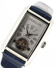 Polierte Mechanisch-(Automatisch) Armbanduhren mit 12-Stunden-Zifferblatt und Rechteck