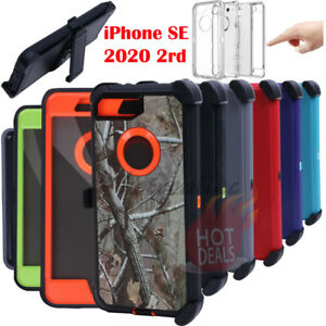 For iPhone SE 2020 Defender Case Cover With Screen Protector(Clip Fits OtterBox)