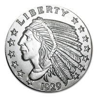 5 TROY OUNCE .999 FINE SILVER INCUSE INDIAN BU + (3) 99.9% 24K GOLD $100 BILLS